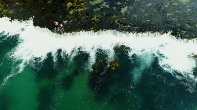 Aerial Shot Of A Waterfall: Stock Video