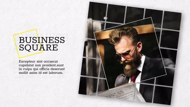 Square Business - Slideshow: Premiere Pro Templates