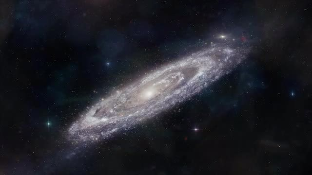 Approaching Andromeda Galaxy: Stock Motion Graphics