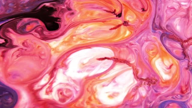 Colored Liquid Paints Spreading: Stock Video