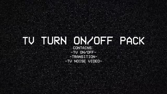 TV Turn On/Off Pack: Stock Motion Graphics