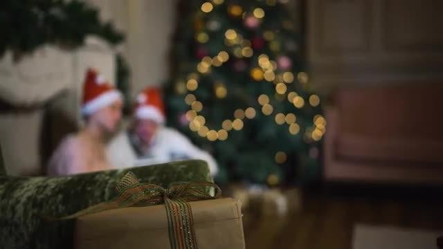 Gift For Partner During Christmas: Stock Video