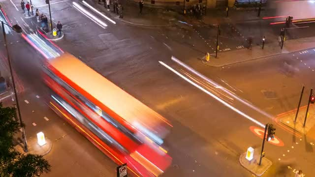 Time Lapse Of Road Traffic: Stock Video