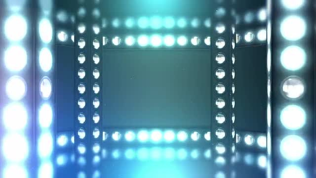 Party Lights Frame Background: Stock Motion Graphics