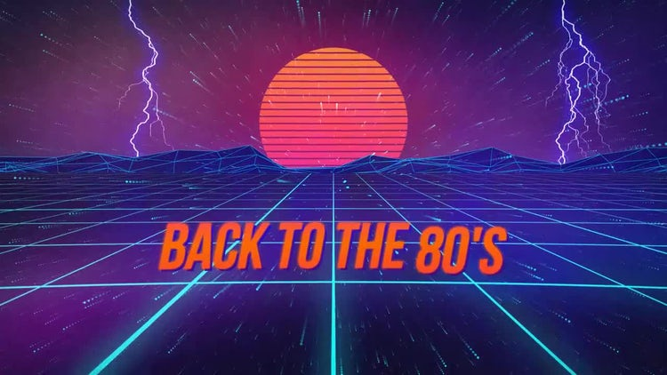 Retro Wave Titles: After Effects Templates