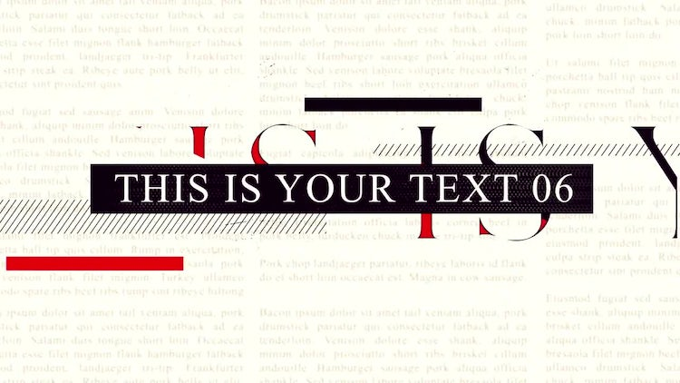 Type Time: After Effects Templates