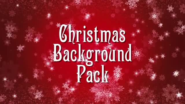 6-In-1 Christmas Background Pack: Stock Motion Graphics