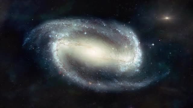 Galaxy NGC 1300: Stock Motion Graphics