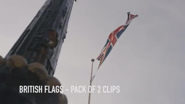 British Flags Slow Motion Pack: Stock Video