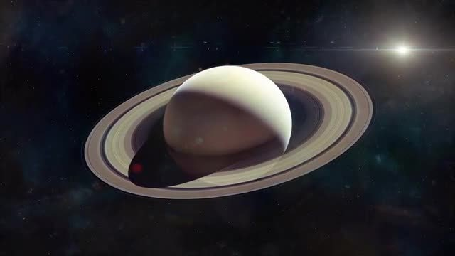 Saturn Approach: Stock Motion Graphics