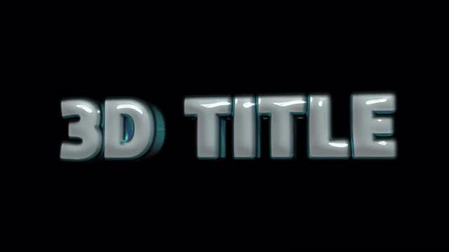 3D Title Animation Pack: After Effects Templates