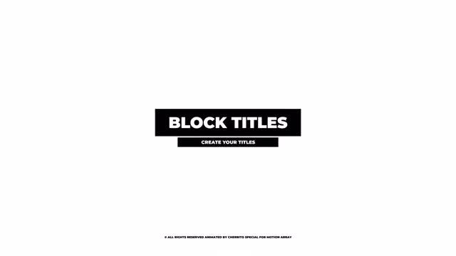 Block Titles: Premiere Pro Templates