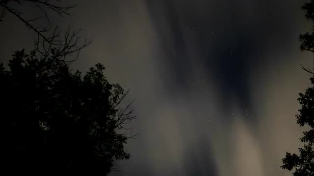 Night Clouds Speeding Time Lapse: Stock Video