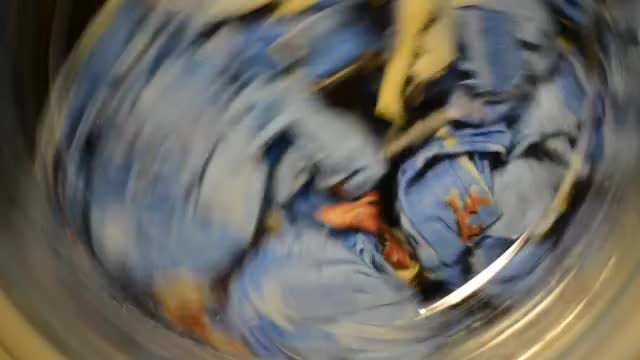 Clothes In A Washing Machine: Stock Video