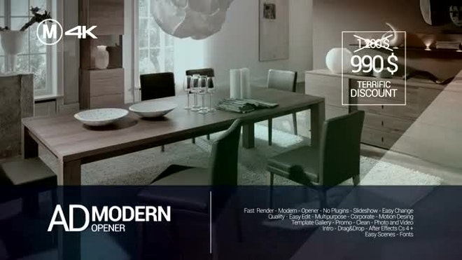 Ad Modern Opener After Effects Templates Motion Array