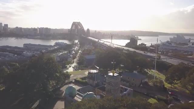 Aerial Shot Of Sydney Harbour: Stock Video