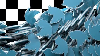 Twitter logo fill transition: Motion Graphics