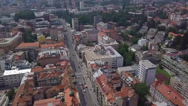 City Rooftops And Streets: Stock Video