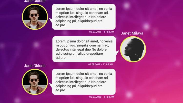 Text Messages Pack for Premiere Pro: Premiere Pro Templates