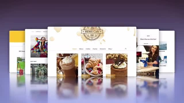 Website Template: After Effects Templates