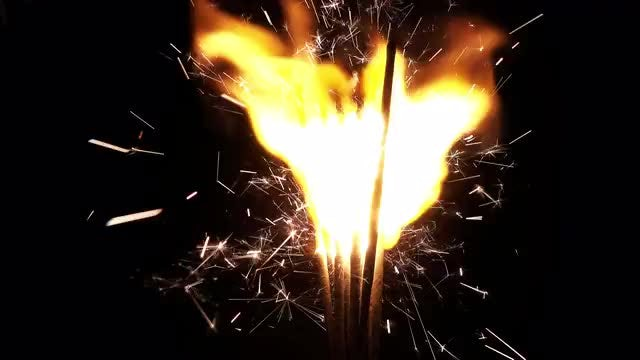 Fire And Sparks From Sparklers: Stock Video