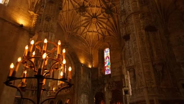 Hieronymites Monastery In Lisbon: Stock Video