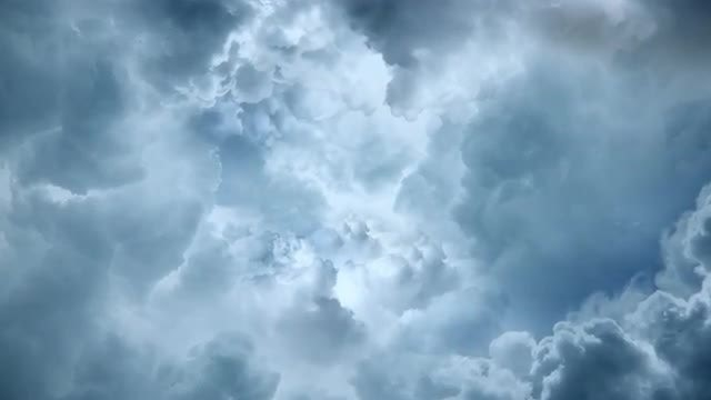 Blue-Gray Clouds Background: Stock Motion Graphics