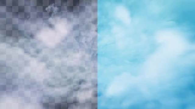 Flying Through Realistic Clouds: Stock Motion Graphics