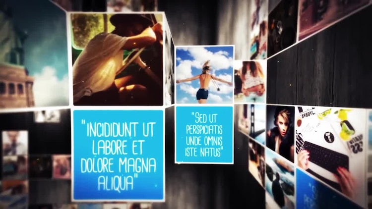Folding Unfolding Creative Slideshow: After Effects Templates