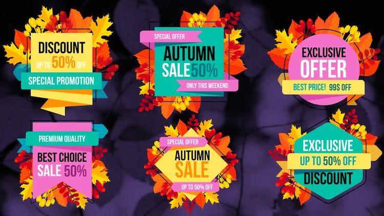 Autumn Sale Titles: After Effects Templates