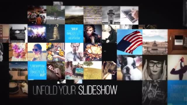 Unfold Photo Slideshow: After Effects Templates