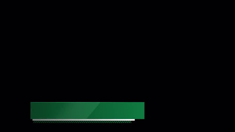 Green Graphic Third: Stock Motion Graphics