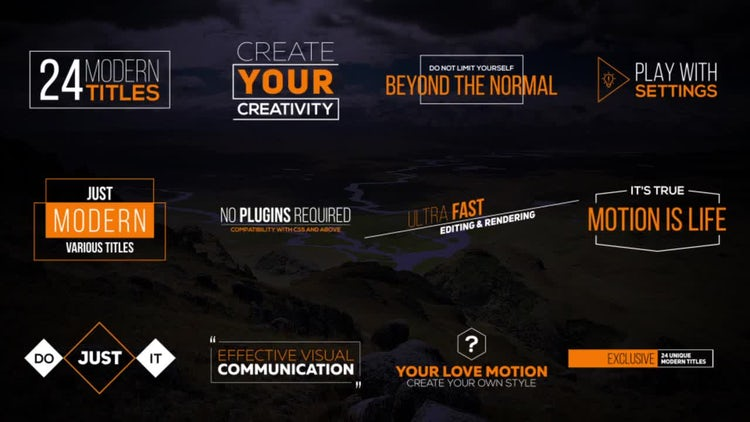 Animated Simple Modern Titles: After Effects Templates
