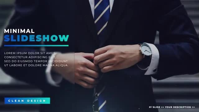 Corporate Minimal Slideshow: After Effects Templates