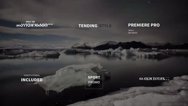 Modern Glitch Titles: Premiere Pro Templates