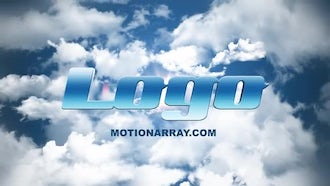 Sky Clouds Logo Reveal: After Effects Templates