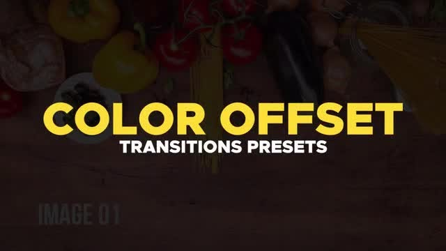 Offset Color Transitions Presets: Premiere Pro Presets