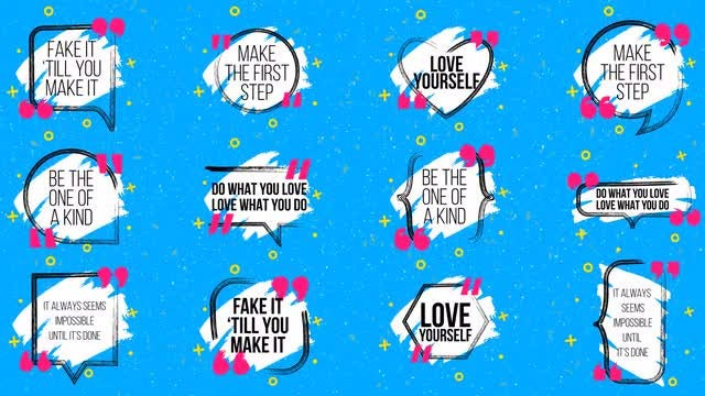 Funny Animated Quotes: Motion Graphics Templates