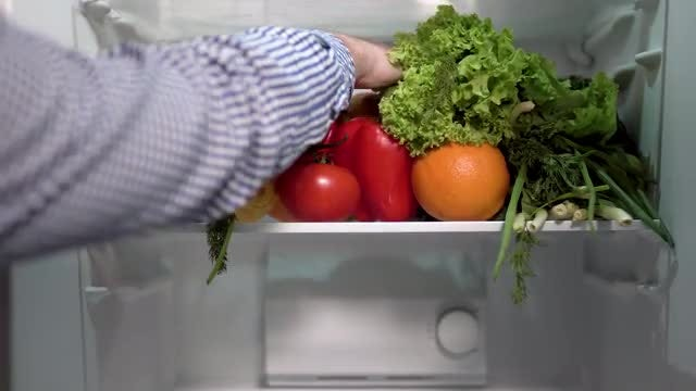 Stocking Up On Healthy Food: Stock Video