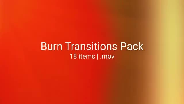 Burn Transitions: Stock Motion Graphics