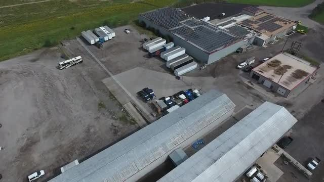 Aerial Shot Of Industrial Plant: Stock Video