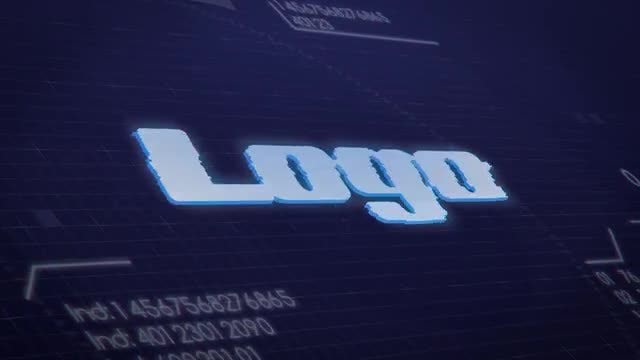 Funny Glitchy HUD Logo Intro: After Effects Templates