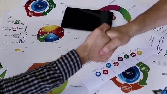 Business Partners In A Meeting: Stock Video