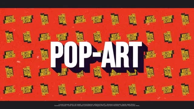 Pop Art Typography Opener: After Effects Templates