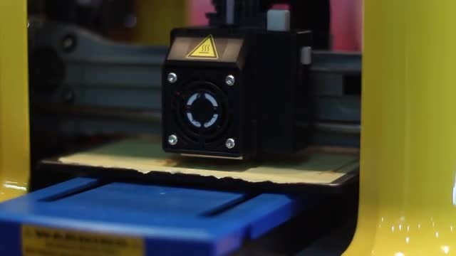 Printing With A 3D printer: Stock Video