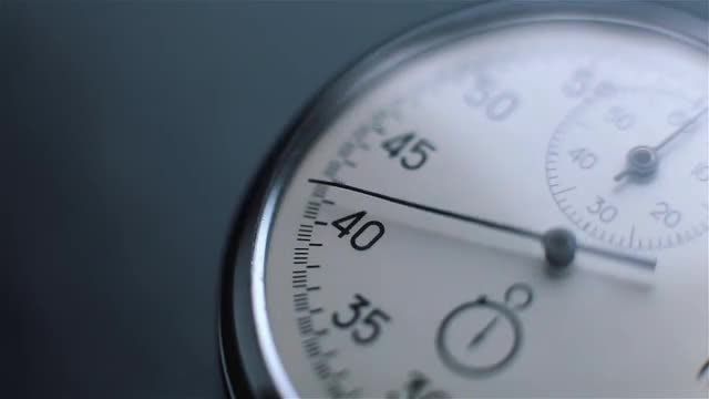Close-up Shot Of A Clock: Stock Video