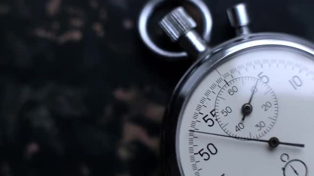 Close-up Shot Of A Stopwatch: Stock Video