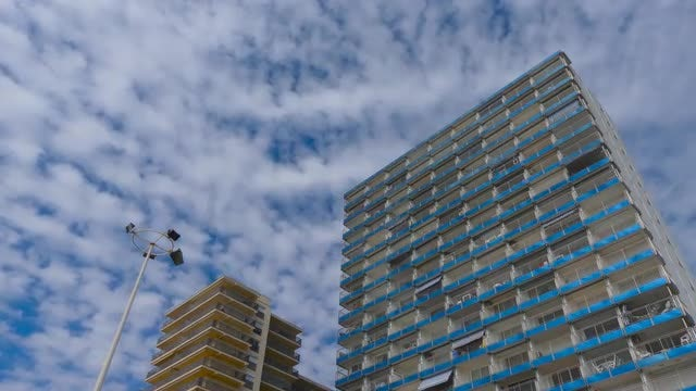 Big Appartment Block Against The Sky: Stock Video
