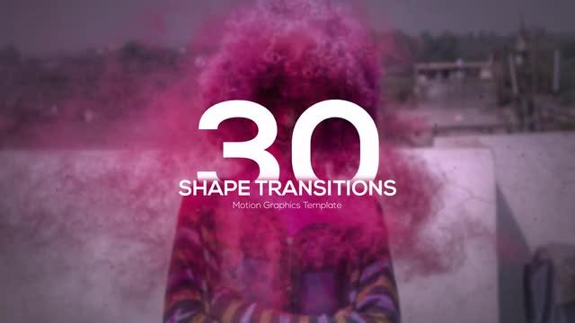 4K Shape Transitions: Motion Graphics Templates