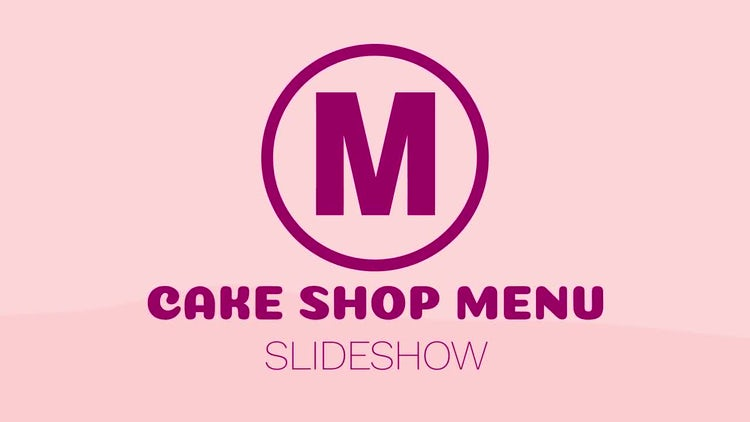 Cake Shop Menu Slideshow: After Effects Templates